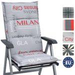 Beautissu Hochlehner Auflage für Gartenstuhl Loft HL 120x50x6cm Bequemes Sitzkissen - Polsterauflage UV-Lichtecht