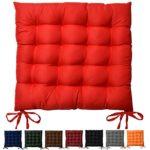 Beautissu Stuhlkissen Lea 40x40x5 cm Sitzkissen für Stühle im Indoor & Outdoor-Bereich mit dicker Polsterung verschiedene Farben