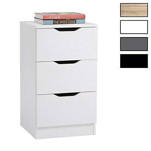 CARO-Möbel Nachttisch Neptun Nachtschrank Nachtkommode Verschiedene Farben, mit 3 Schubladen