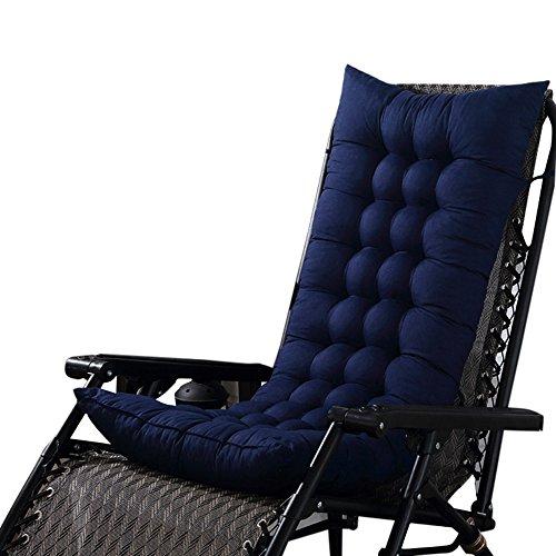 Chlove Stuhlauflage Hochlehner Auflage Sitzauflage Polsterkissen Rückenkissen mit Bänder