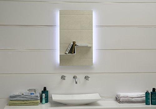 Design Badspiegel mit LED-Beleuchtung GS043N Lichtspiegel Wandspiegel Tageslichtweiß IP44