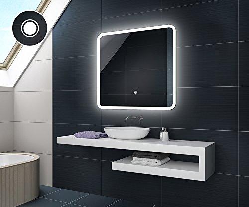 Design Badspiegel mit LED Beleuchtung von Artforma | Wandspiegel Badezimmerspiegel | TOUCH SCHALTER