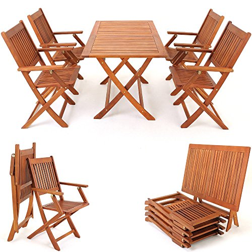 Deuba® Sitzgruppe Holz Sydney Variante mit Zubehör Sitzkissen - Abdeckung