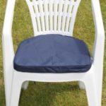 Gartenmöbel-Auflage - Kissen für Gartenstuhl aus Kunststoff in Blau