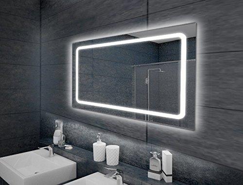 KROLLMANN Kosmetik-/ Badspiegel mit LED Beleuchtung & Touch Sensor in verschiedenen Größen