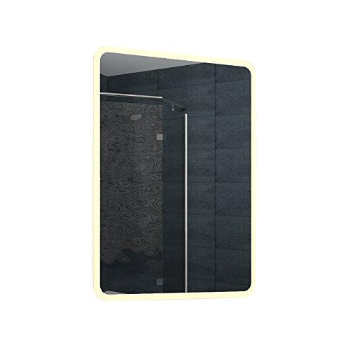 Lux-aqua Design LED Badezimmerspiegel Lichtspiegel Wandspiegel Spiegel 80x60cm