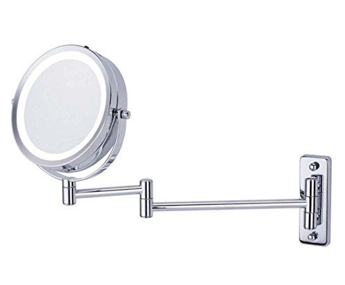 Missing Deer 6-Zoll-Wand-Make-up-Spiegel mit LED-Falten Make-up-Spiegel 5 Mal Vergrößerung doppelseitige Wand Spiegel Bad Spiegel Business Geschenke Private Order