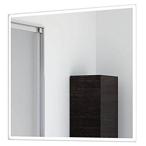 Schreiber Design LED Badspiegel Lichtspiegel mit umlaufender LED Beleuchtung und 2cm satiniertem Rand