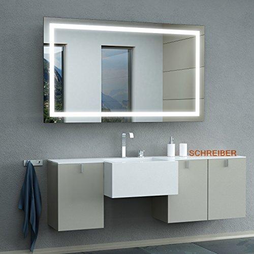 Schreiber Design LED Badspiegel mit Lichtstarke LEDplus FlächenLED Comfort