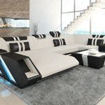 Sofa Dreams Stoff Wohnlandschaft Apollonia U Form mit LED Beleuchtung