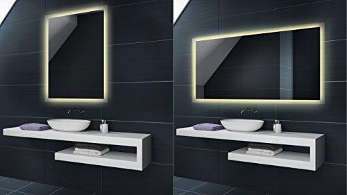 WARMWEIß Design Badspiegel mit LED Beleuchtung von Artforma | Wandspiegel Badezimmerspiegel |Spiegel nach Maß