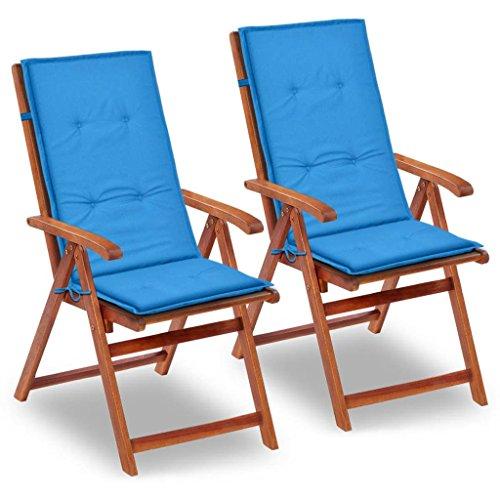 vidaXL Gartenstuhl Auflage Hochlehner Sitzkissen Stuhlauflage mehrere Auswahl