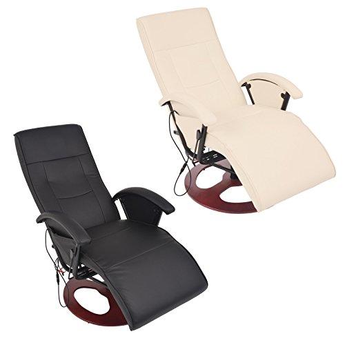 vidaXL Massagesessel Fernsehsessel Relaxsessel Massage Heizung TV Sessel CRÈME