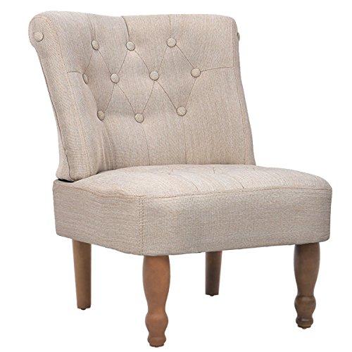 vidaXL französischer Sessel, gefasstenerbreiter Armsessel im französischen Stil