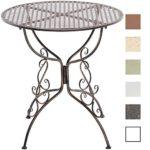 CLP Eisentisch AMANDA im Jugendstil I Robuster Gartentisch mit kunstvoll verzierten Tischbeinen I In verschiedenen Farben erhältlich