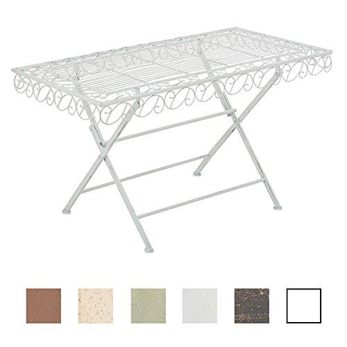 CLP Eisentisch Josefa im Jugendstil I Robuster Gartentisch mit kunstvollen Verzierungen I in Verschiedenen Farben erhältlich