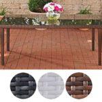 CLP Poly-Rattan Garten-Tisch BONDY, Esstisch 180 x 90 x 75 cm, mit Glasplatte, ideal für 6 Stühle, bis zu 3 Farben wählbar