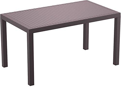 CLP Polyrattan-Tisch ORLANDO I Wetterfester Gartentisch aus UV-beständigem Kunststoffgeflecht I UV-beständiger Gartentisch