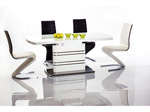 Jadella Design Esszimmertisch Lucky Hochglanz ausziehbar