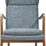 Kare Design Sessel Silence Mottle, Relaxsessel mit Armlehnen, Lounge TV Sessel im Retro-Look, Türkis-Meliert (H/B/T) 106x68x82cm