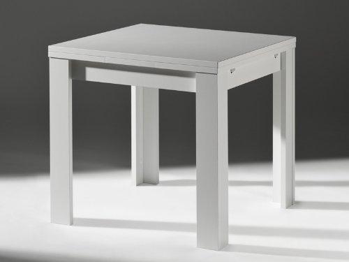 Küchentisch Ausziehtisch Weiß matt 80x60cm