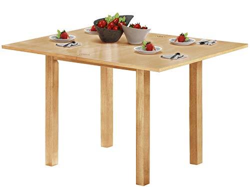 Loft24 CYRANO Esstisch Esszimmertisch aufklappbar ausziehbar Klapptisch Holztisch Küchentisch quadratisch