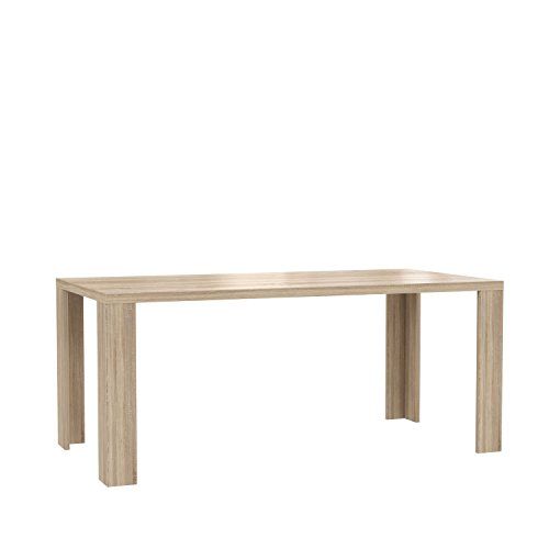 NEWFACE  Esstisch, Holzwerkstoff, Sonoma Eiche Dekor, 180 x 90 x 76 cm