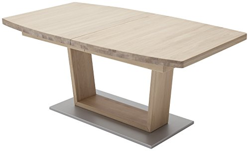 Robas Lund, Tisch, Esszimmertisch, Cantania B, Eiche/teilmassiv/bianco, 180 x 100 x 77 cm, CAN18BBE
